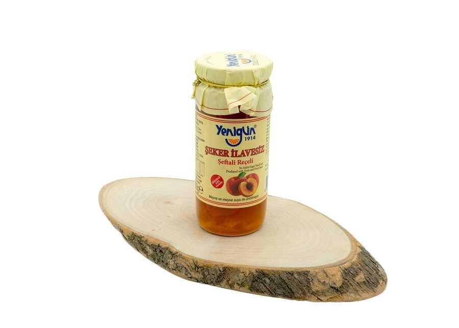 Yenigün Şeker İlavesiz Şeftali Reçeli 290 Gr